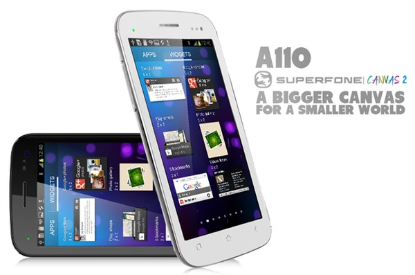 The Micromax A110 Superfone Canvas 2