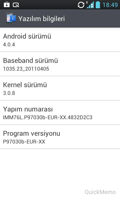Firmware v30b Lg P970