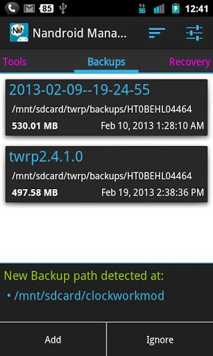 View backups
