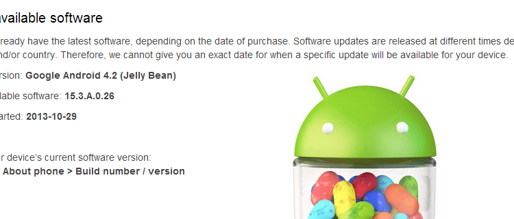Xperia L Android 4.2 15.3.A.0.26