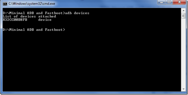 ADB and Fastboot windows