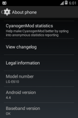 LG Optimus L5 CM11