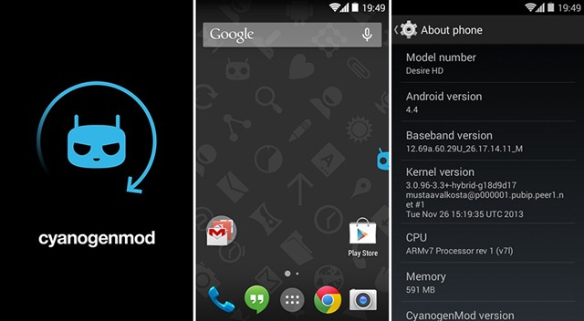 Unofficial Cm 11 Android 44 For Htc Desire Hd