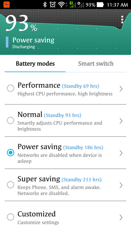 Use the Battery Power Saving Feature