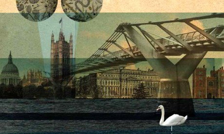 "30-Second London features ""bizarre, collage-like"" illustrations by Nicky Ackland-Snow"