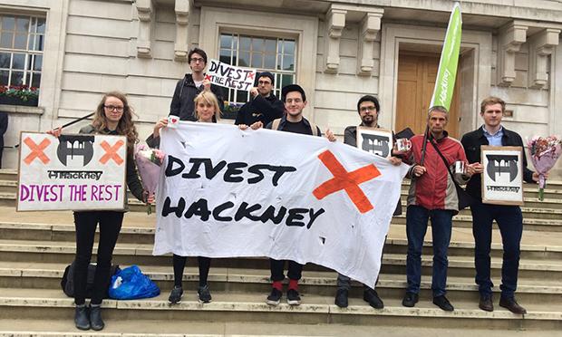 Divest Hackney protest