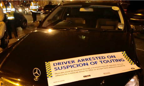 Driver arrested on suspicion of touting
