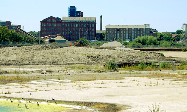 Derelict site under consideration for the industrial plant