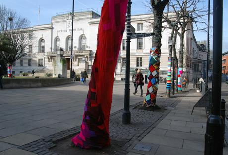 Yarn bomb, Mare Street Hackney