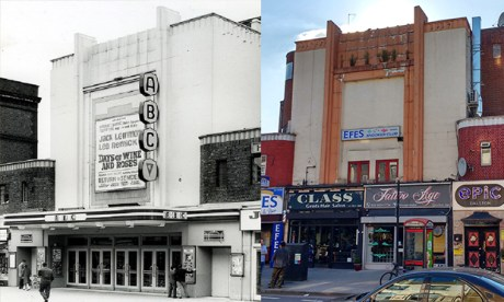 Easy as ABC: the venue as it looked in 1963 (left) and how it looks now (right).