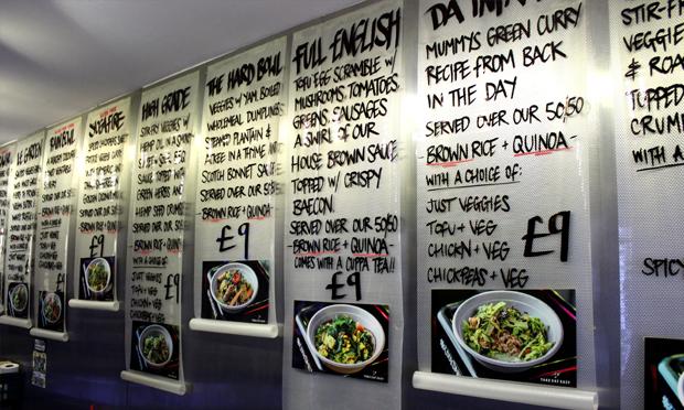 The scroll-like menus. Photograph: Jade King