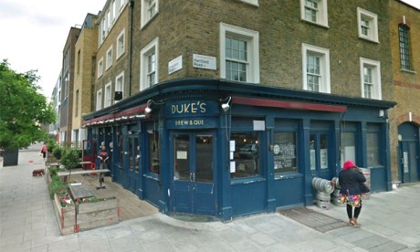 Permanently closed: Duke's Brew and Que. Photograph: Google Street View