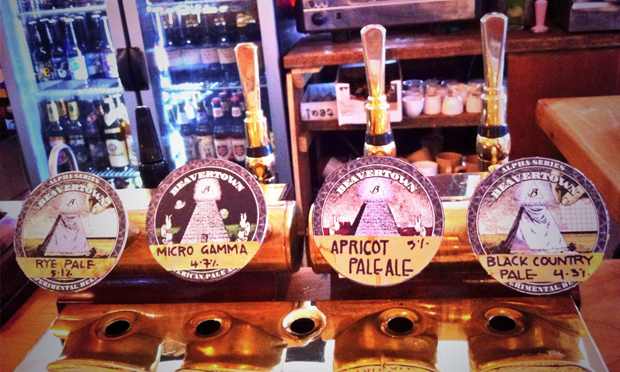 Good times: an archive picture of some then-new draught options at Duke's. Photograph: Beavertown Brewery