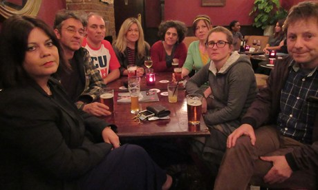 Mehetabel Road residents at the Chesham Arms pub, where they met to discuss the problems