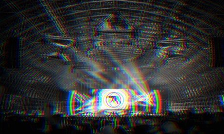 Drukq-induced: a mock up of what Aphex Twin at Field Day's The Barn will look like