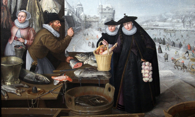 """Back then eating garlic had all the thrills of transgression and identifying with the Other': Lucas van Valckenborch's Winter (c. 1595). Image: Wikimedia Commons"