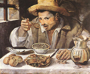 Annibale Carracci's Mangiafagioli (The Beaneater; 1580-90)