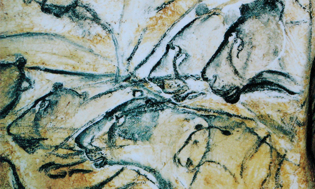 A recreation of the lions painted in France's Chauvet Cave