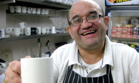 """We'll be unemployed after ten years here"": Franco Aviette, the proprietor of Griddlers' Café"