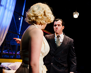 Oliver Hembrough as Joe DiMaggio. Photograph: Alex Brenner (info@alexbrenner.co.uk)
