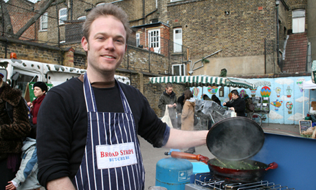 Marketchef Tom Moggach preparing kale on toast