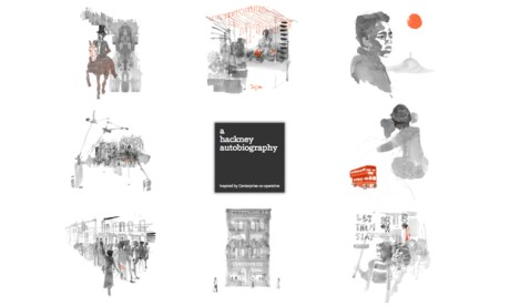 """""""Magical"""": the splash screen of a hackney autobiography's website, with illustrations by Joanna Layla"""