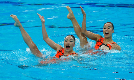 Synchronised Swimming Duet Beijing 2008 Olympics Games