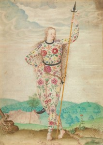 'A Young Daughter of the Picts' by Jacques Le Moyne de al Morgue, c.1585