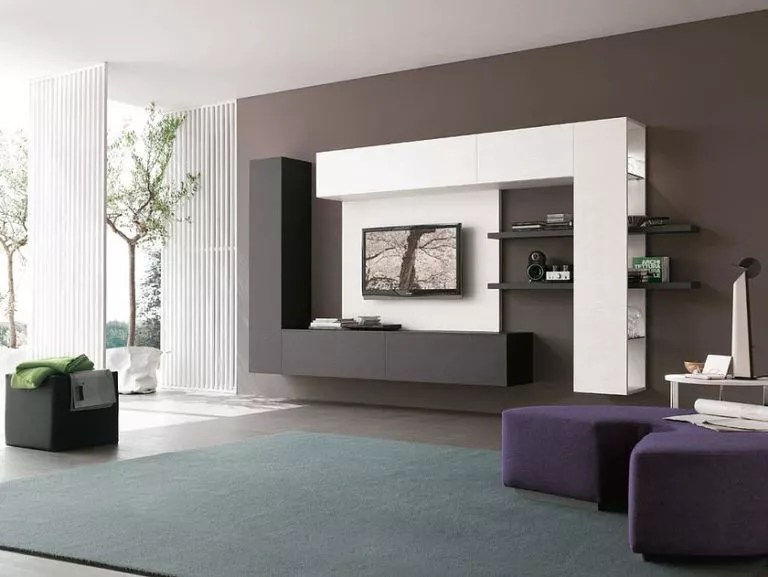 Modern Storage Furniture In The Living Room Design Options On 45 Photos
