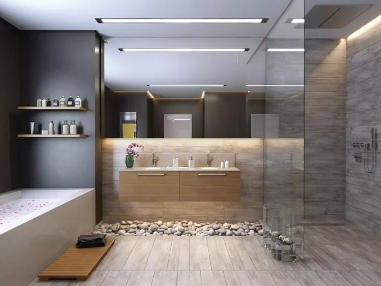 salle de bain dans les tons gris 75 d