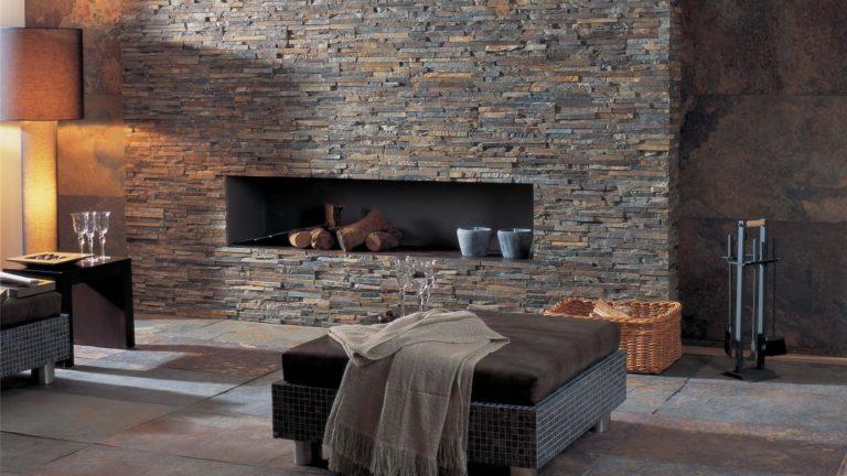 15 idee per un bel rivestimento in pietra nel salotto. Pietra Decorativa Per Pareti Interne Opzioni Di Design Foto