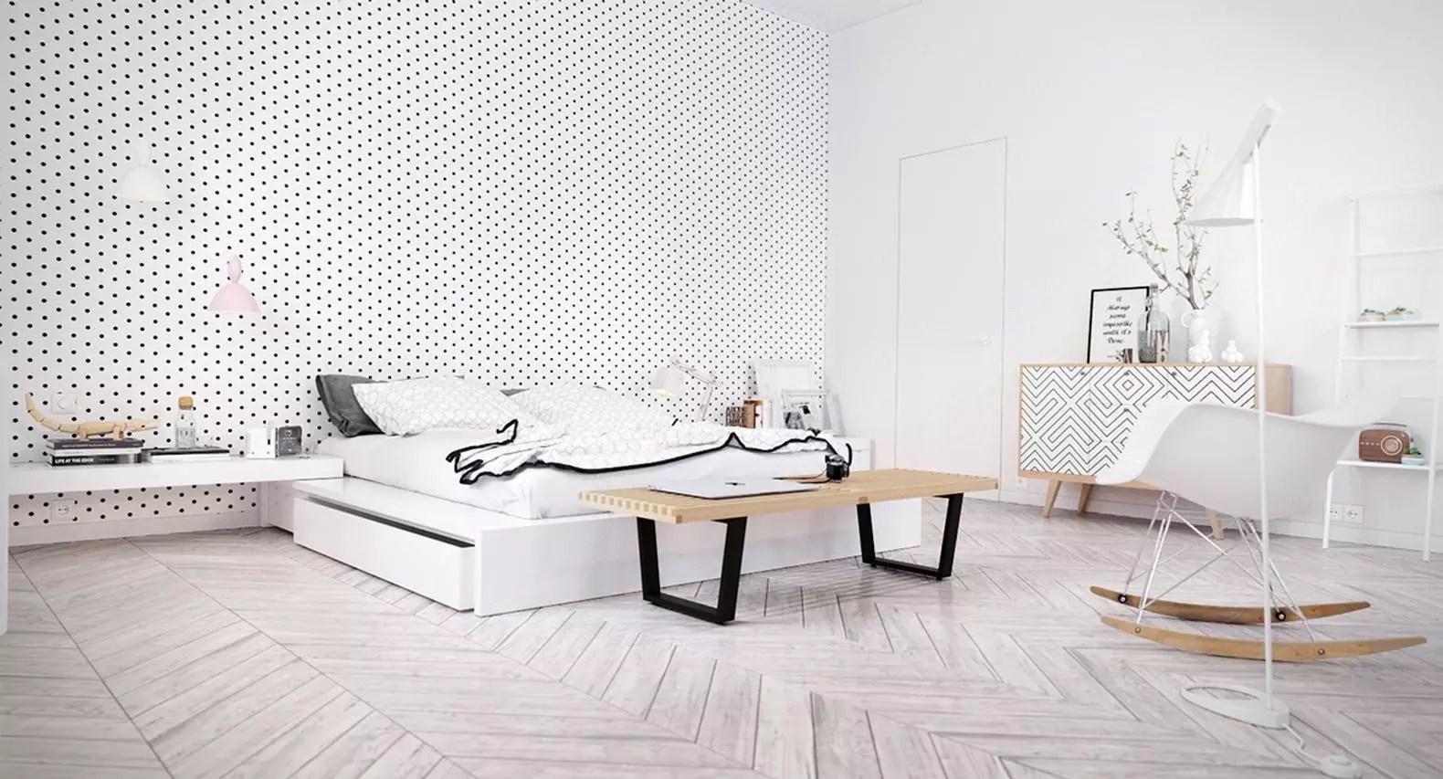 papier peint de style scandinave