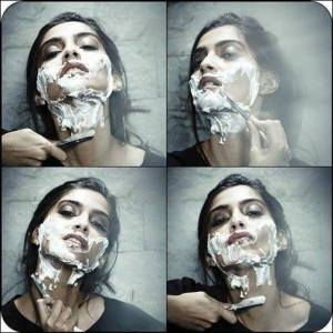 Sonam Kapoor Shaves Her Face With a Straight Razor