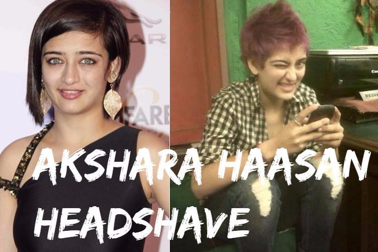 Akshara Haasan Headshave
