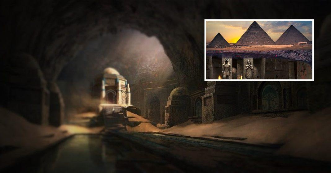 C'è una città sotterranea sotto le piramidi di Giza (Video)