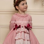 Vestido Rosa y Lazos Grosella