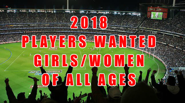 2018 Female Players Wanted