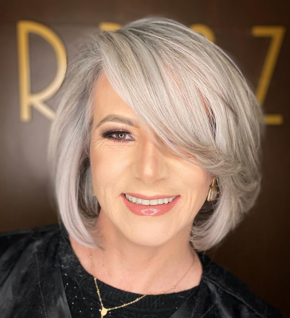 Current Silver Bob for Thin Hair
