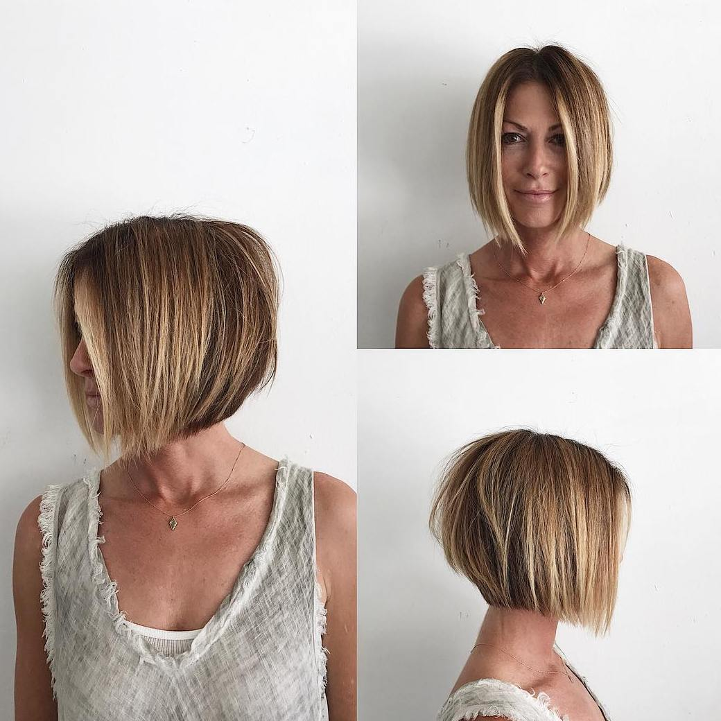 Centre-Parted Stacked Bob