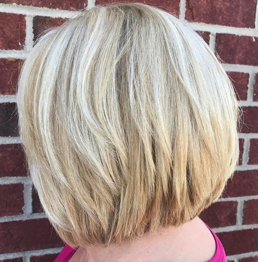 Layered Blonde Bob for Thick Hair