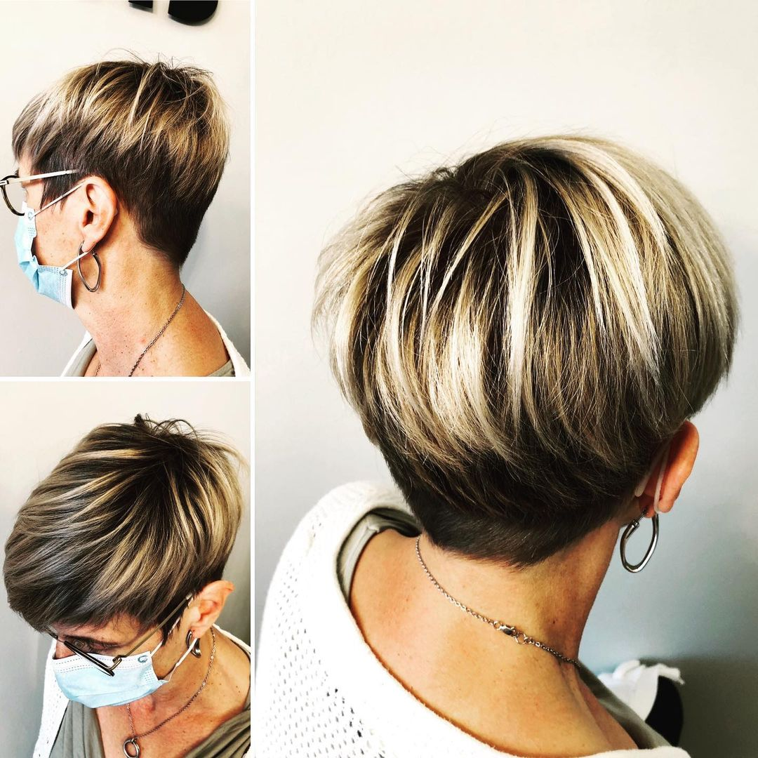Blonde Balayage Hairstyle for Women Over 50