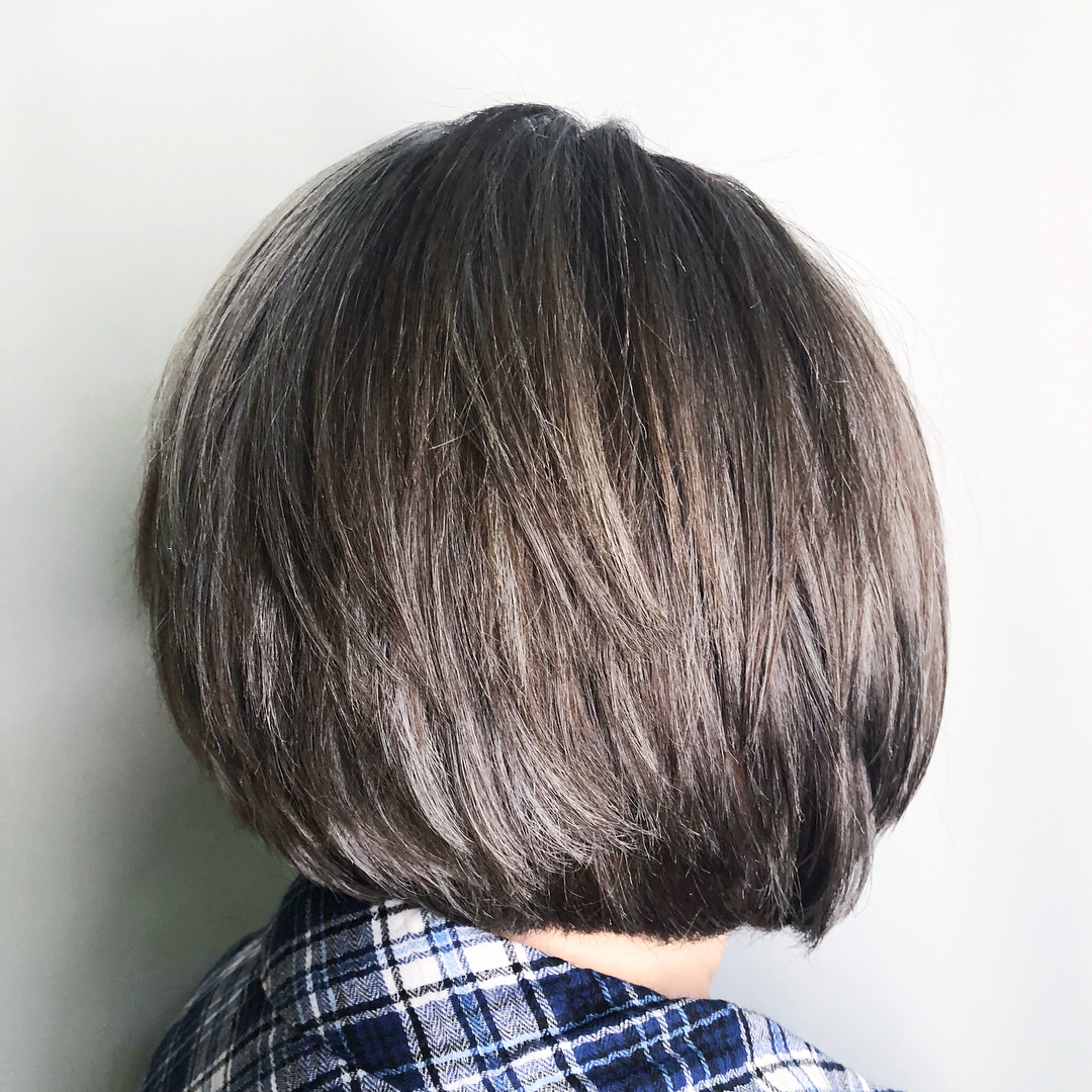 Blunt Bob with Layers for Thick Hair