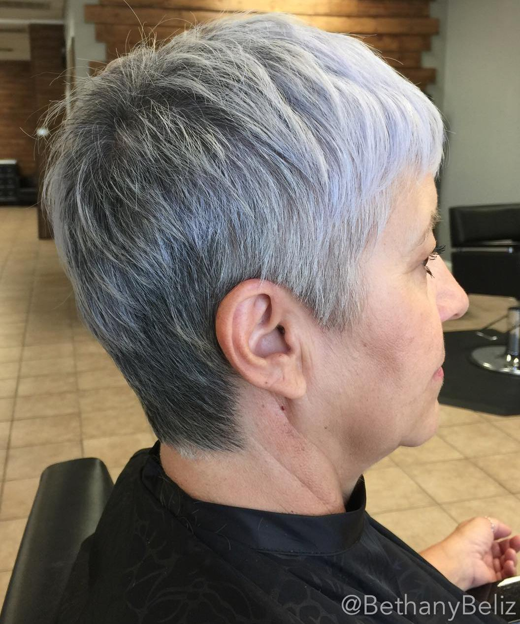 50+ Short Silver Gray Pixie