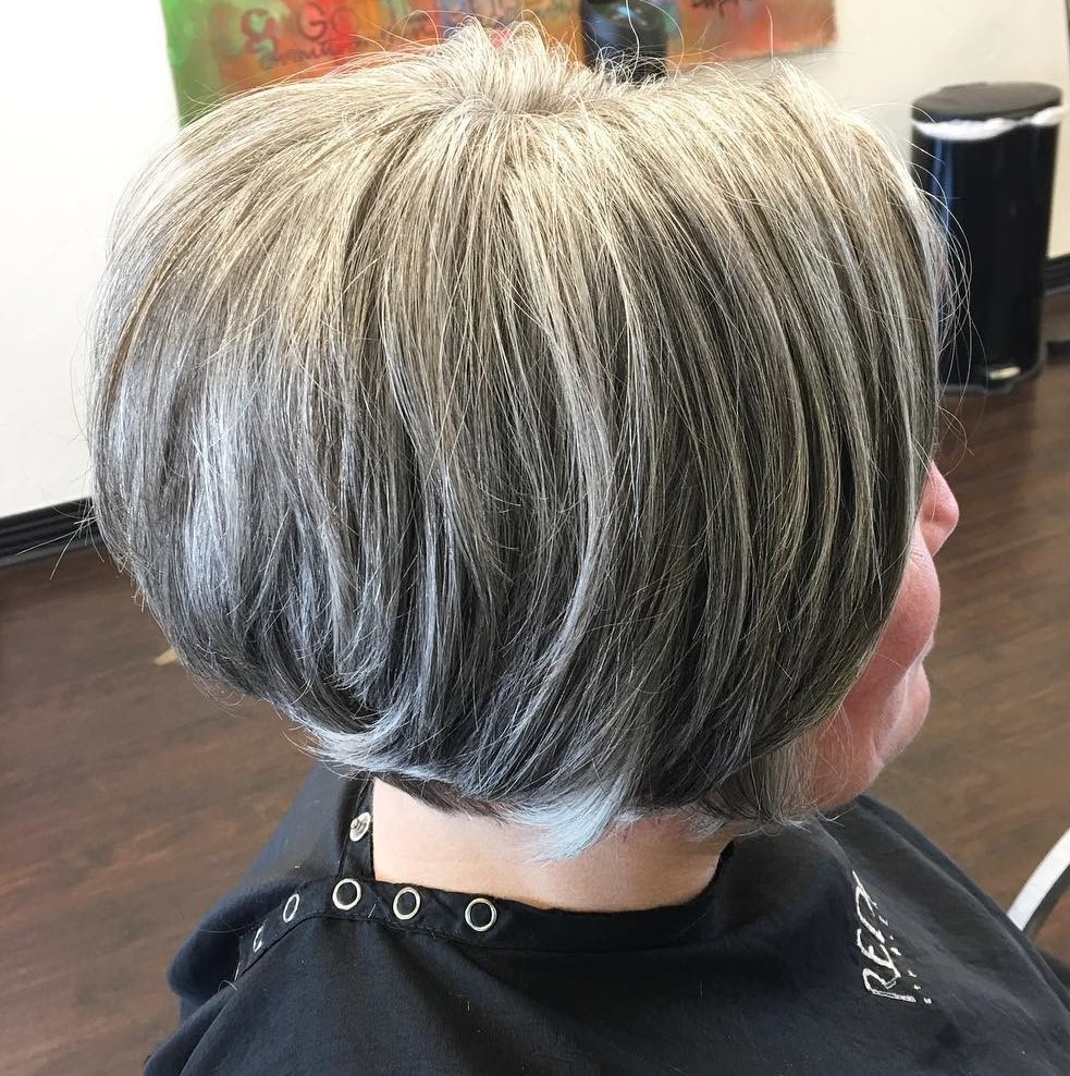 Short Gray Bob for Older Women