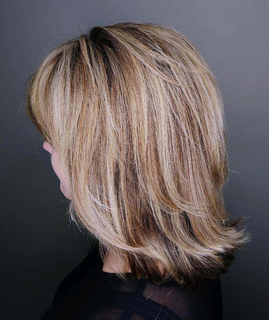 Shoulder Length Layered Cut for Thick Hair