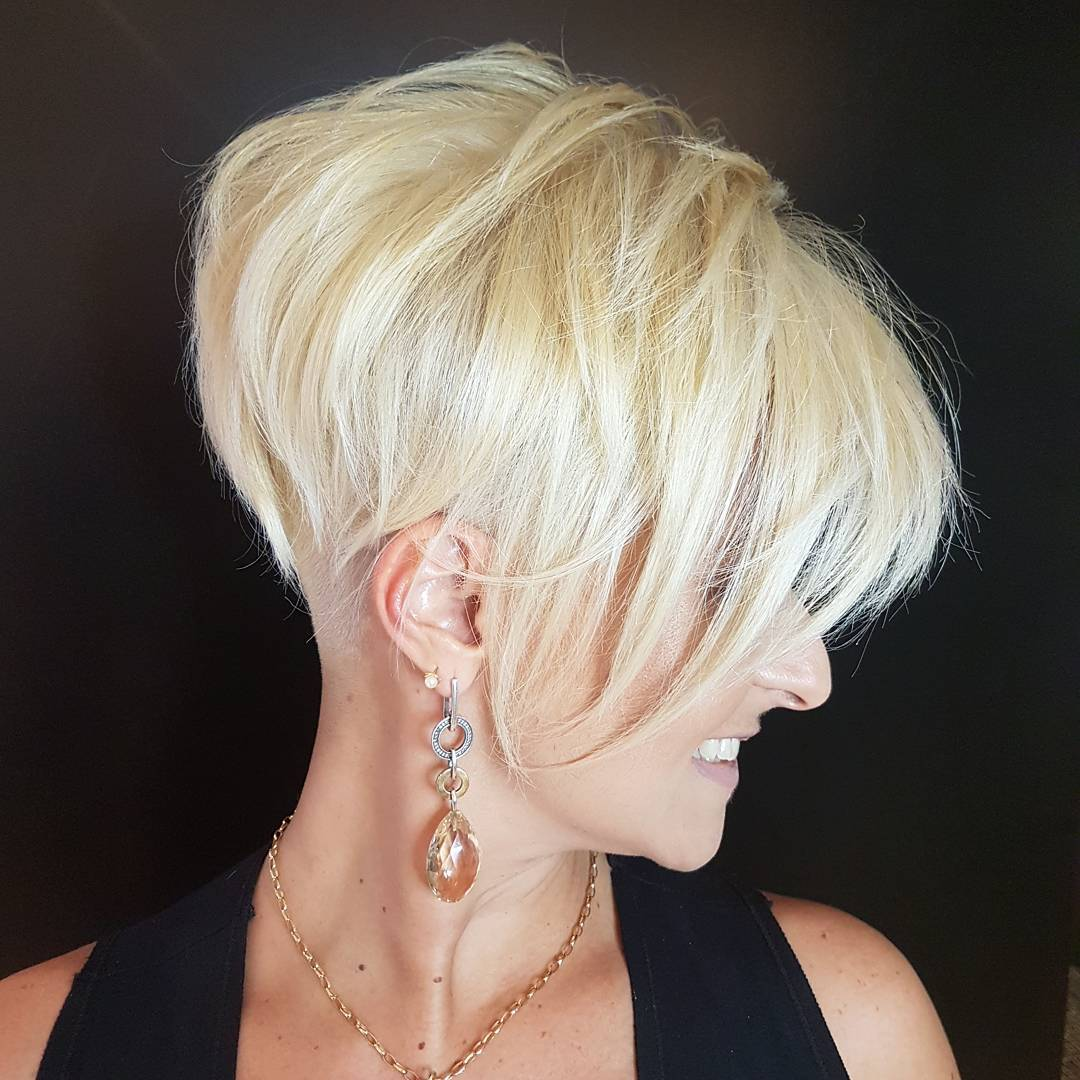 Blonde Pixie with Nape Undercut