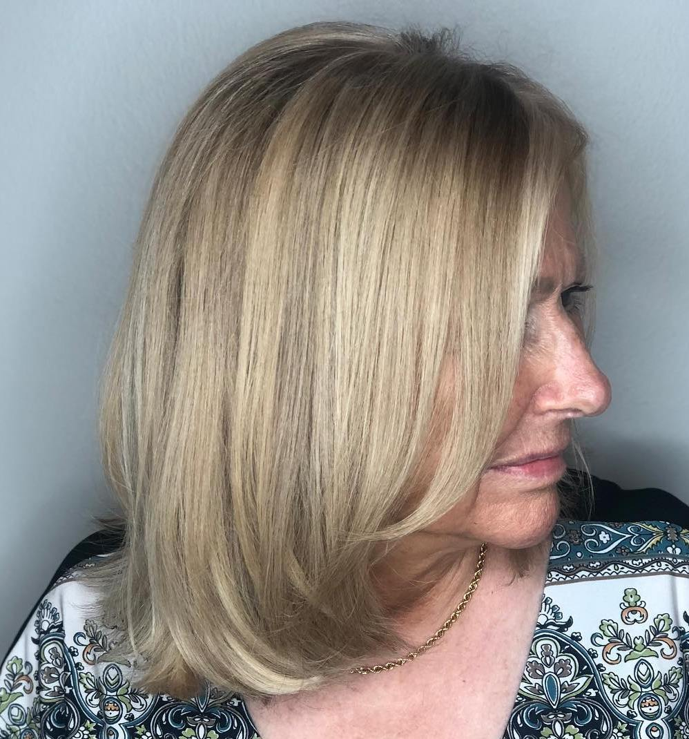 Sleek Straight Ash Blonde Long Bob