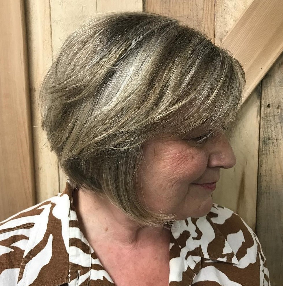 Short Bob with Fringe over 60