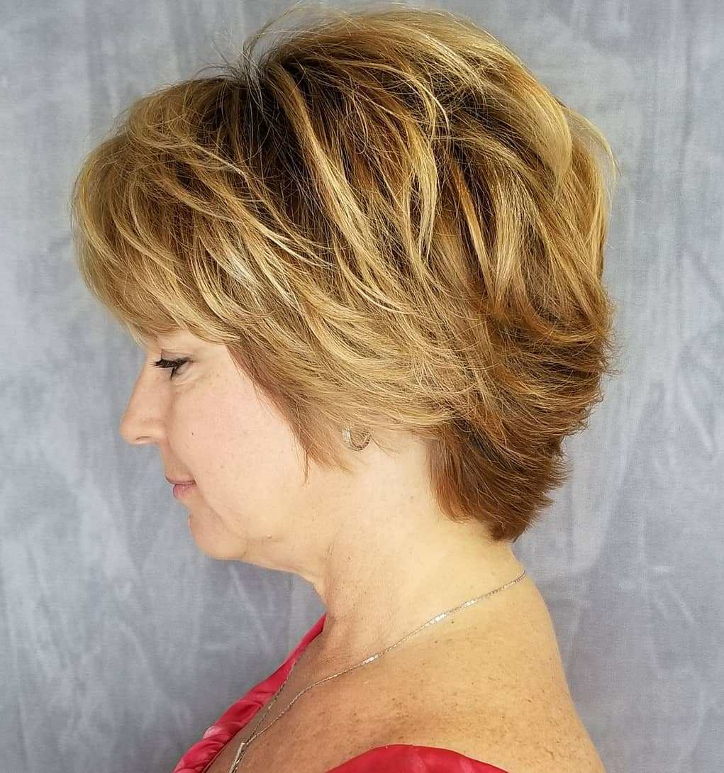 Golden Blonde Long Pixie Bob with Volume