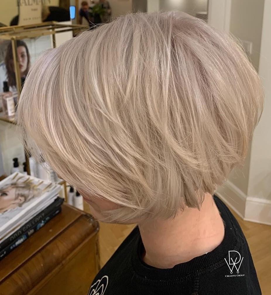 Sliced Short Bob Haircut